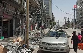 Gazze halkı ateşkes sonrası normal hayata dönmeye...