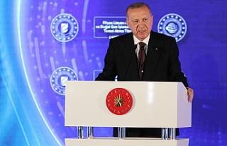 Cumhurbaşkanı Erdoğan'dan 135 milyar metreküplük...