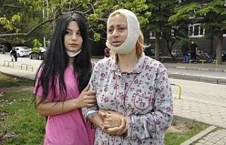 Eskişehir'de darp edildiği iddia edilen kadın...