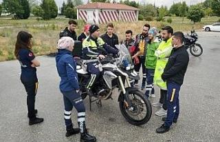 Motosikletli Ambulans Timleri yaz dönemi görevine...