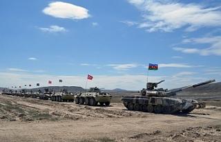 Türkiye ve Azerbaycan'ın ortak askeri tatbikatı...