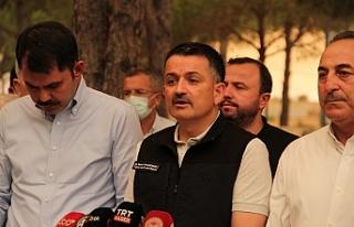 Bakan Pakdemirli: Muğla'da Milas ve Bodrum yangınları...