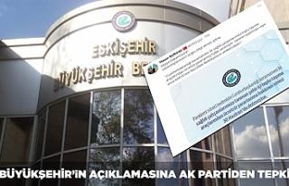 Büyükşehir'in açıklamasına AK Parti'den...