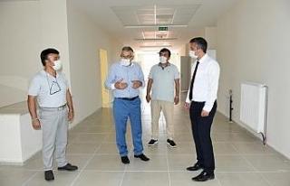 İnönü'deki yeni okul binası ve kapalı spor...