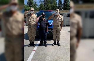 Jandarma ekipleri 'Temsili Askerlik Uygulaması'...