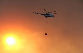 Manavgat'taki orman yangını havadan görüntülendi,...