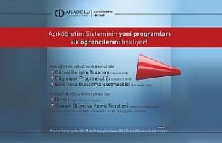 Açıköğretim sistemi yeni açılan programlarına...