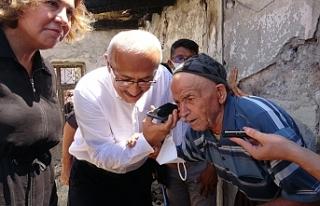Cumhurbaşkanı Erdoğan, yangın bölgesindeki yaşlı...