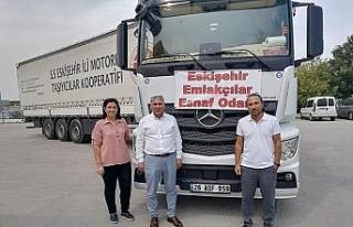 Eskişehir'den Marmaris'e saman yardımı