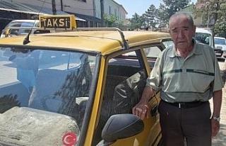 Eskişehir'in en eski taksi şoförü olarak biliniyor