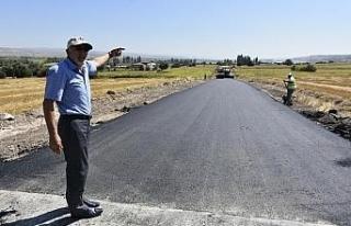 İnönü'nün o bölgesinde sıcak asfalt çalışmalarında...