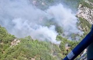 Kazdağları'nda yangın! 4 helikopter müdahale...