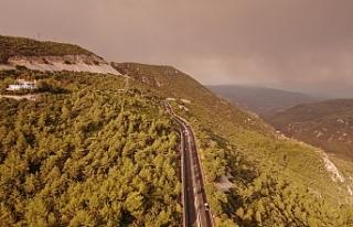 Muğla'da yükselen dumanlar gökyüzünü griye...