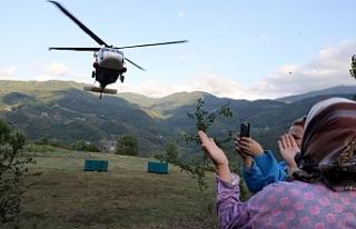 Türkiye'de ilk kez askeri helikopterle jeneratör...