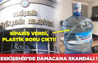 Eskişehir'de damacana skandalı: Sipariş verdiği...