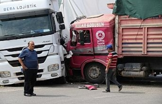 Eskişehir'de TIR'la çarpışan kamyonun sürücüsü...