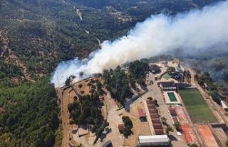 İzmir'de orman yangını başladı