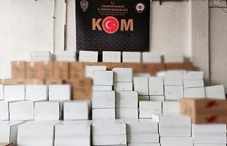 Eskişehir'de 3 milyon 330 bin adet kaçak makaron...