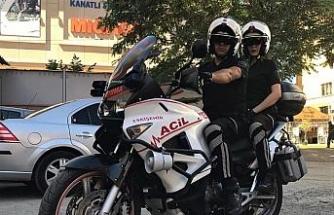 Motosikletli ambulanslar ile vakaya ulaşım 10 dakikanın altına düşüyor