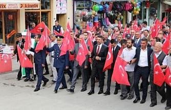 Sivrihisar'da 15 Temmuz Demokrasi ve Milli Birlik yürüyüşü