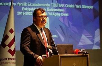 ESTÜ'de 2019-2020 eğitim öğretim yılı TÜBİTAK Başkanı Mandal'ın ilk ders sunumu ile başladı
