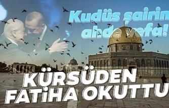 Başkan Erdoğan'dan Nuri Pakdil'e ahde vefa! Kürsüden Fatiha okuttu