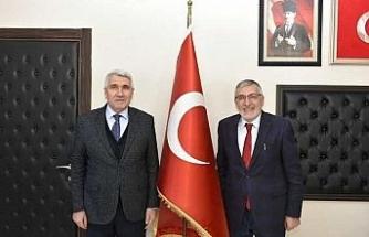 Meclis Başkanı Yılmaz'dan Başkan Bozkurt'a ziyaret