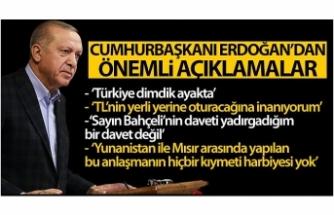 """Cumhurbaşkanı Erdoğan: """"TL'nin yerli yerine oturacağına inanıyorum"""""""