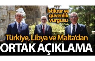 Türkiye-Malta-Libya'dan ortak açıklama