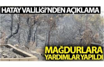 """Hatay Valiliği: """"Yangın mağdurlarına yardımlar yapıldı"""""""