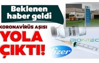 Pfizer ve BioNTech'in ürettiği corona virüs aşısının dağıtımına başlandı