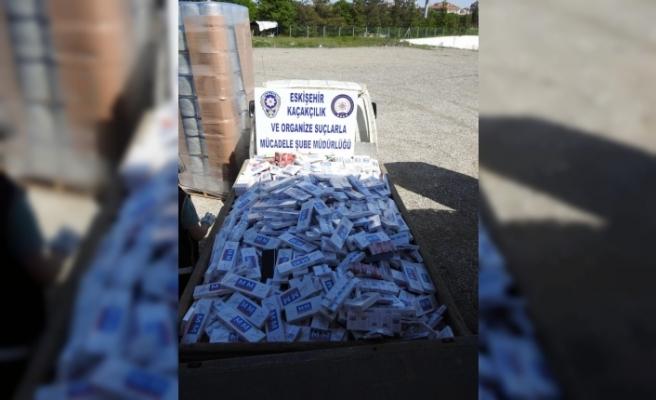 Eskişehir'de kaçak içki ve sigara operasyonu