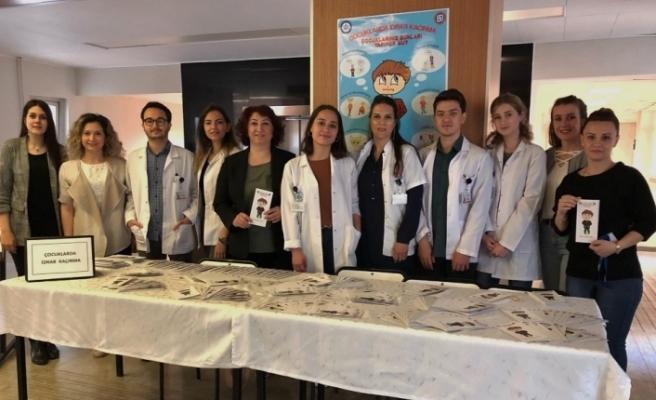 ESOGÜ Hastanesi'nde çocuklarda idrar kaçırma konusunda bilgilendirme etkinliği