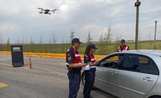 Eskişehir'de drone ile trafik denetimi