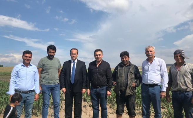 Mağdur çiftçilere ziyaretler devam ediyor
