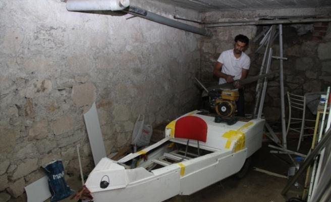 Eskişehir'in Hazarfen'i uçma hayaliyle mikrolayt yaptı