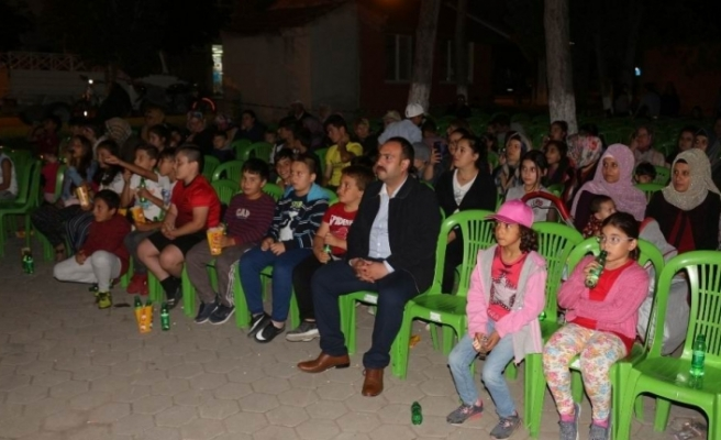 İnönü'de Yazlık Sinema Geceleri başladı