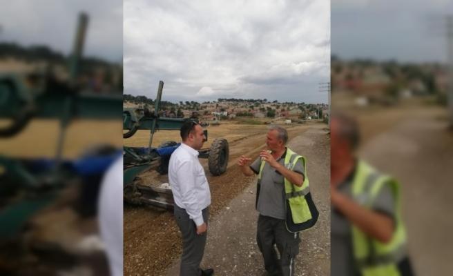 İnönü'de yeni yerleşim alanlarına yollar açılıyor