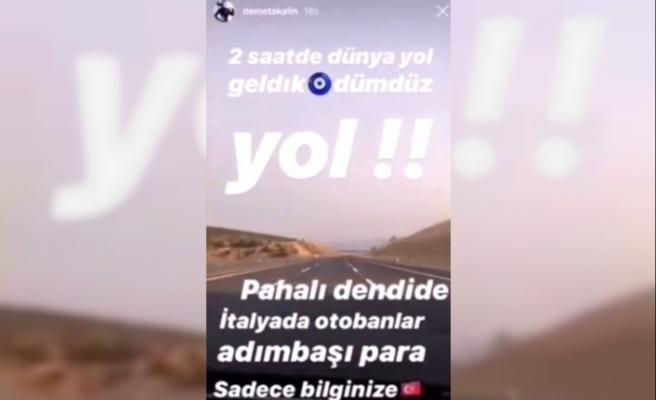 Erdoğan, İzmir otoyolunu öven Demet Akalın'ı aradı