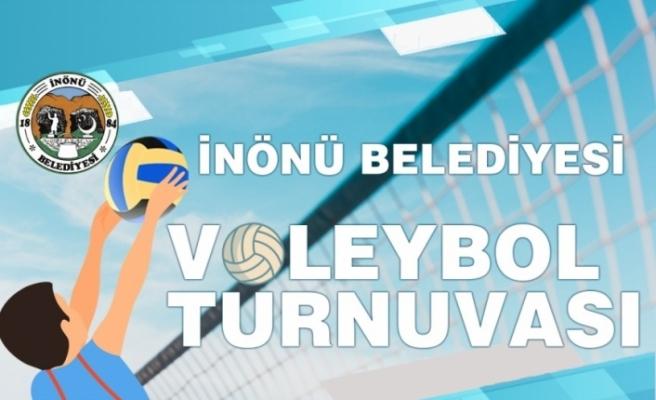 İnönü'de turnuva heyecanı voleybol ile devam ediyor