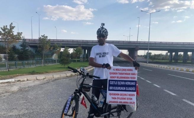 İşine geri dönmek için bisikleti ile 600 kilometre yol gidecek