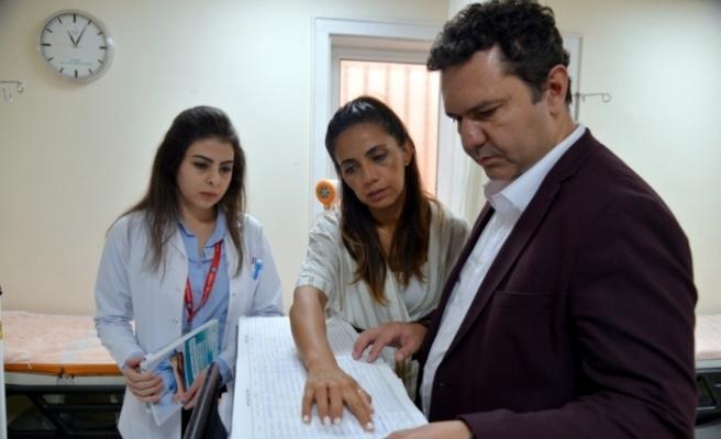 Dr. Uğur Bilge, Kırka'daki sağlık kuruluşlarını ziyaret etti