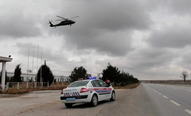 İl Jandarma Komutanlığından 'havadan trafik denetimi'