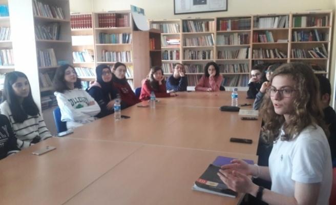 Eskişehir Fatih Fen Lisesi öğrencileri, 'Yahya Kemal Beyatlı ve İstanbul Türkçesi' çalıştayı düzenledi