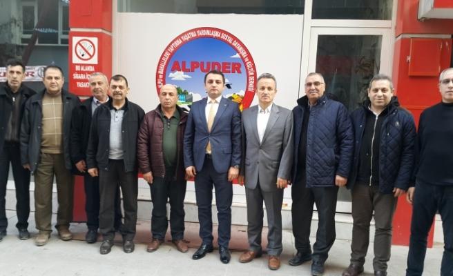 Alpu Kaymakamı Hakan Öznay ALPUDER'i ziyaret etti