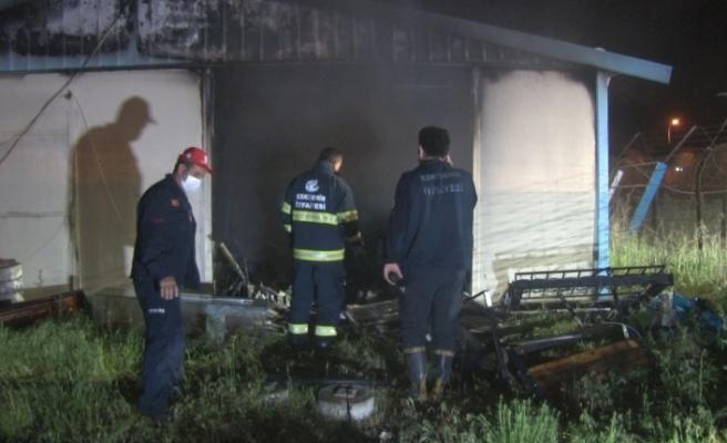 Eskişehir'de kaymakamlığa ait yardım deposunda yangın