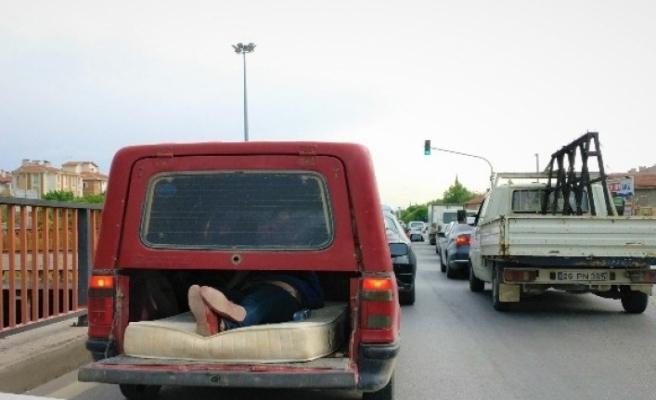 Trafikte böyle konforlu yolculuk görülmedi