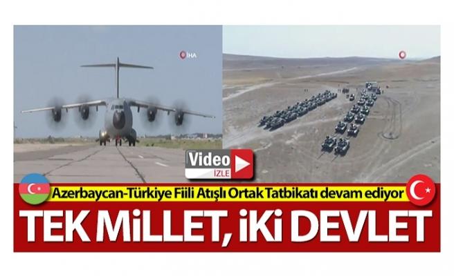Azerbaycan-Türkiye Fiili Atışlı Ortak Tatbikatı devam ediyor