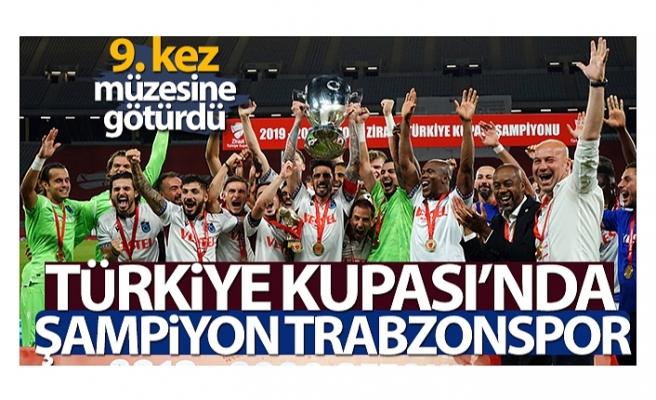 Bordo-mavililer, Türkiye Kupası'nı 9. kez müzesine götürdü.