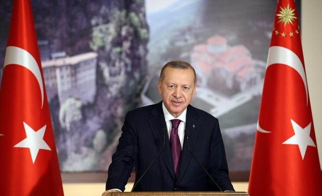 Cumhurbaşkanı Erdoğan Sümela Manastırı, Türkiye'nin toprakları üzerindeki her türlü medeniyet mirasına nasıl sahip çıktığının somut örneğidir
